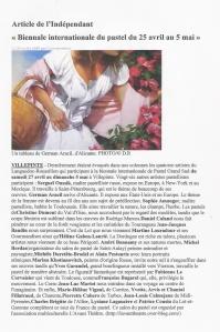 Article l'Indépendant Villepinte 2013