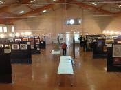Salle d'expo avant l'ouverture