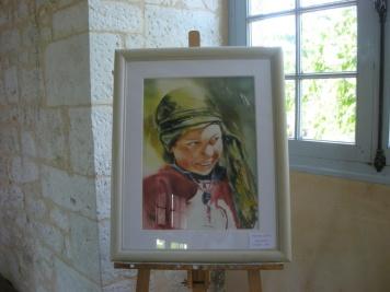 Aquarelle de Martine Jolit, invitée d'honneur