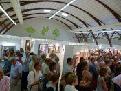"""Vernissage St Aulaye 2013 - vue de l'assistance - photo """"Pastel en Périgord"""""""