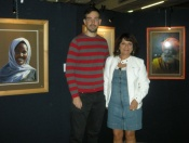 Avec Ruben Belloso devant mes portraits