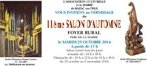 Invitation vernissage - Razac 2014