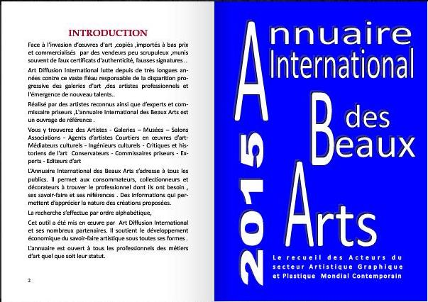 annuaire international des beaux arts bx