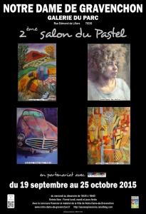 Affiche 2ème Salon du Pastel - ND de Gravenchon