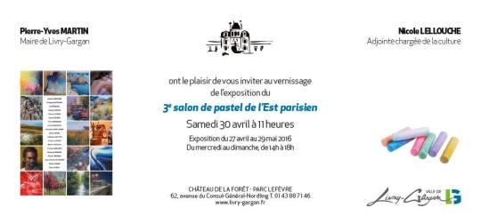 Invitation vernissage salon Livry-Gargan 2016