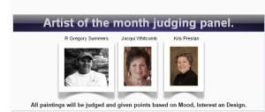 "Jury de ""Artistofthemonth"""